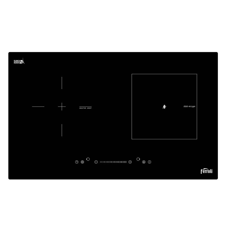 Bếp Đôi Từ Và Hồng Ngoại Ferroli FB4200ES - Đen - Hàng chính hãng