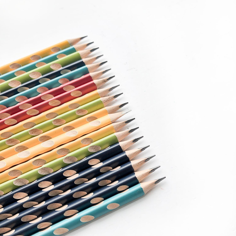 COMBO 5 cây bút chì gỗ 2B cao cấp CLASSMATE Easy Grip CL-PC612 (Màu ngẫu nhiên)