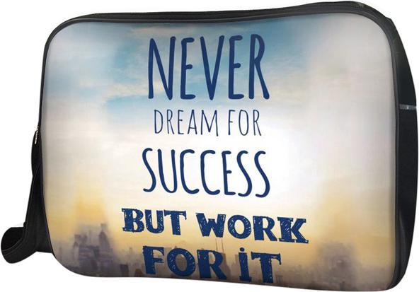 Túi Đeo Chéo Hộp Unisex Never Dream For Success - T Work 34 x 9 x 25 cm
