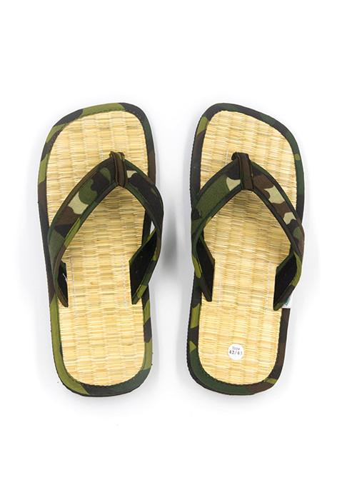 Dép chiếu xỏ ngón Hương Quế DCQ-48 nguyên liệu tự nhiên (sợi chiếu, bột quế, sợi đay) ngăn ngừa mồ hôi chân - giữ ẩm và mát chân