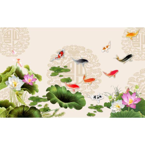 Giấy dán tường - Cá Koi - Mã M183
