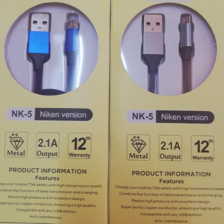 Cáp sạc nhanh Micro USB NK5, dây sạc bọc dù cho Samsung/Huawei/Xiaomi/Oppo/Sony, sạc nhanh 2A Max - Giao màu ngẫu nhiên