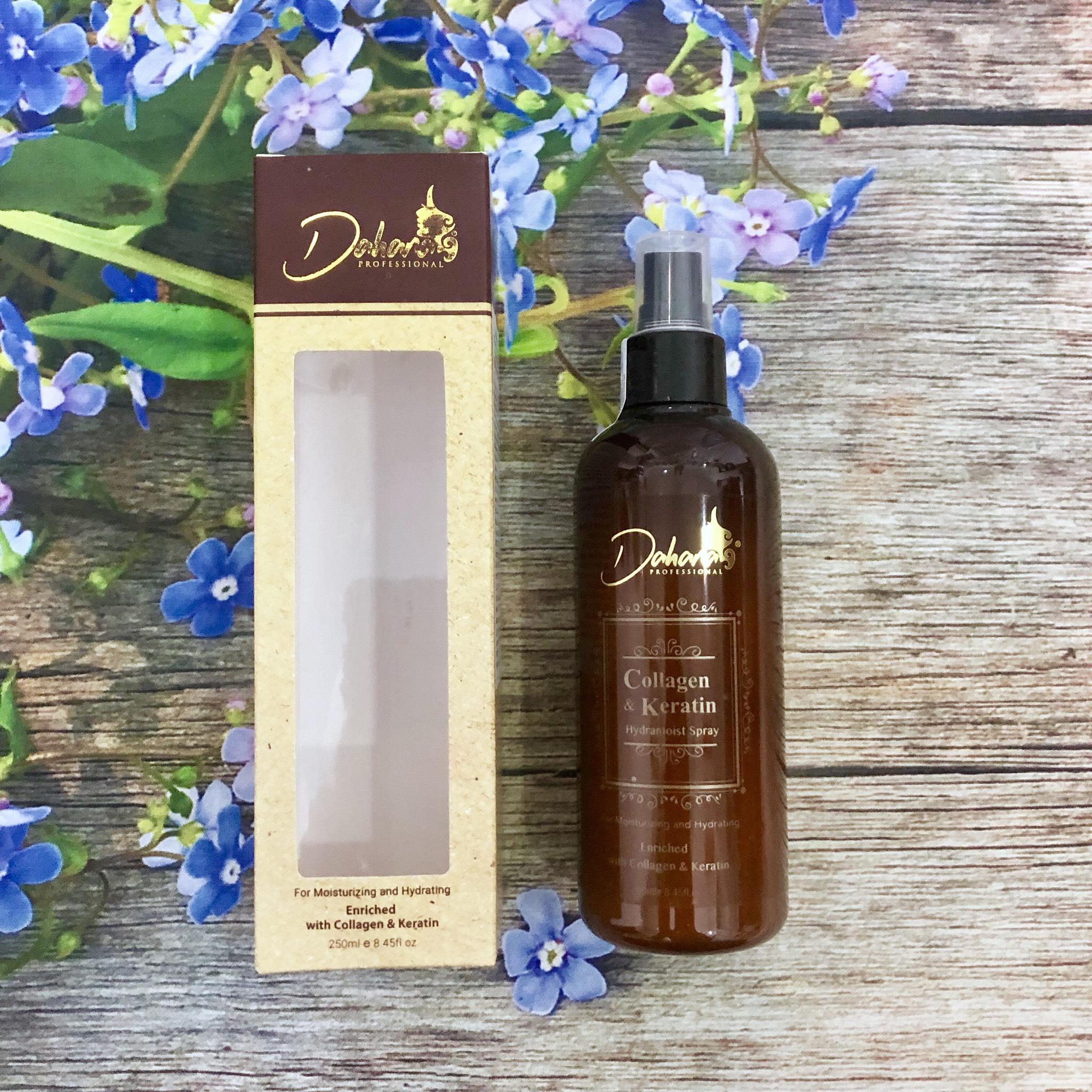 Xịt dưỡng ẩm tóc siêu mượt DAHANA Collagen & Keratin cho tóc khô hư tổn 250ml