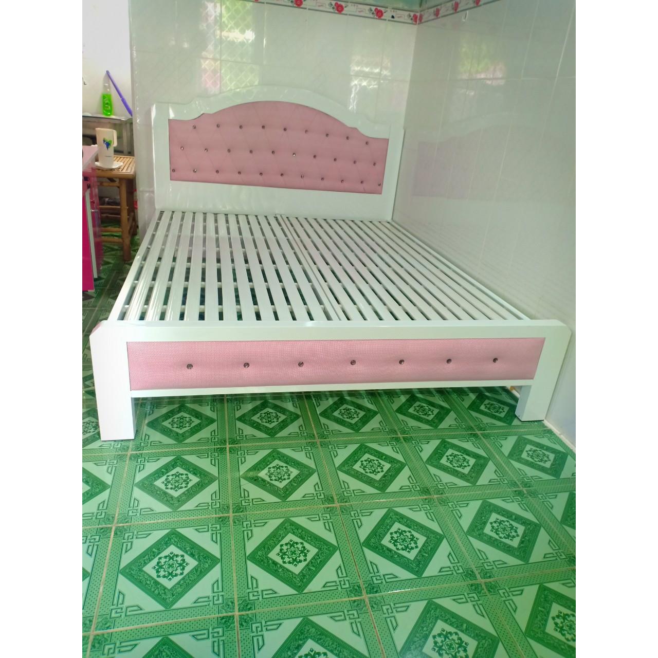 Giường sắt hộp cao cấp 5x10 đẹp 1m8x2m_LG555-18T
