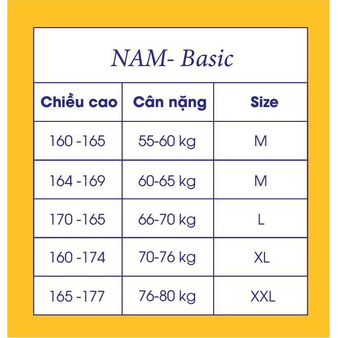 Áo Sơ Mi Nano YODY Viền Chân Cổ, Công Nghệ Nano, Kháng Khuẩn, Không Nhăn Tự Nhiên SMM3953