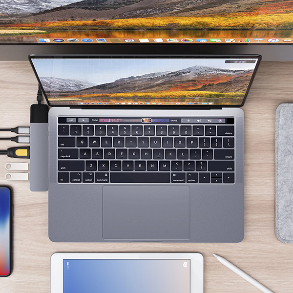 """Cổng chuyển Hyperdrive NET 6 in 2 USB-C Hub dành cho Macbook Pro 13"""" 15"""" 2016/2017/2018 - Hàng chính hãng"""