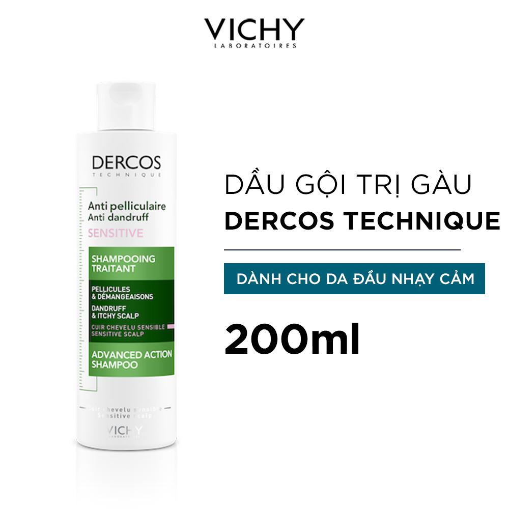 Dầu Gội Vichy Sạch Gàu Dành Cho Da Đầu Nhạy Cảm Dercos Anti-Dandruff 200ml
