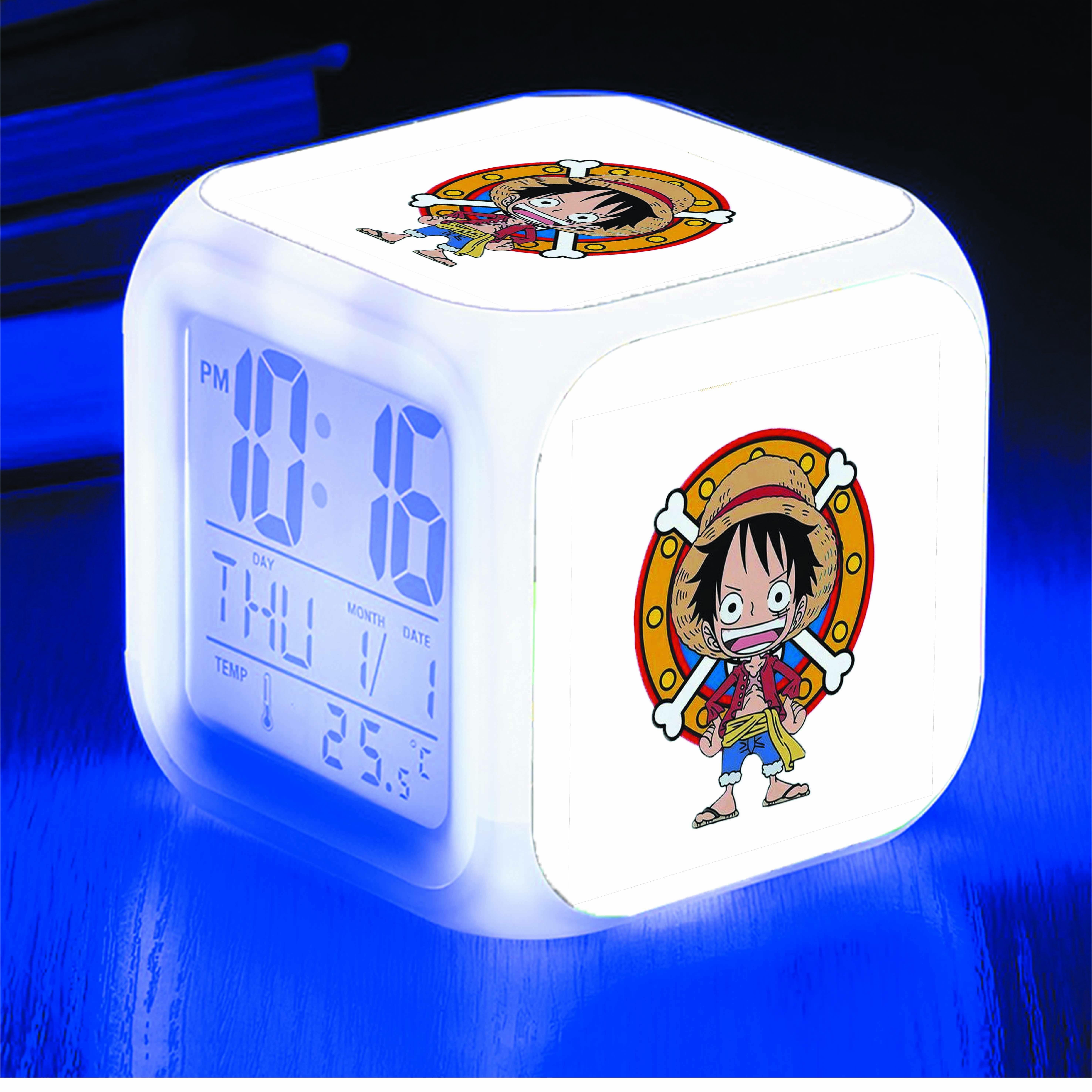 Đồng hồ báo thức để bàn IN HÌNH Luffy Mũ Rơm One Piece - Đảo Hải Tặc anime
