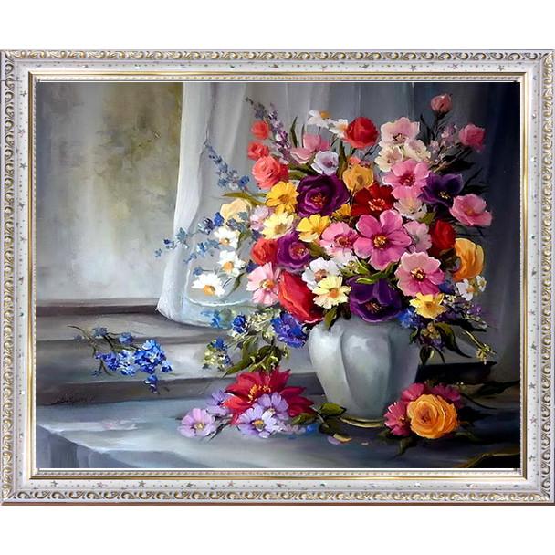 Tranh hoa phong cách Châu Âu in trên đá 01