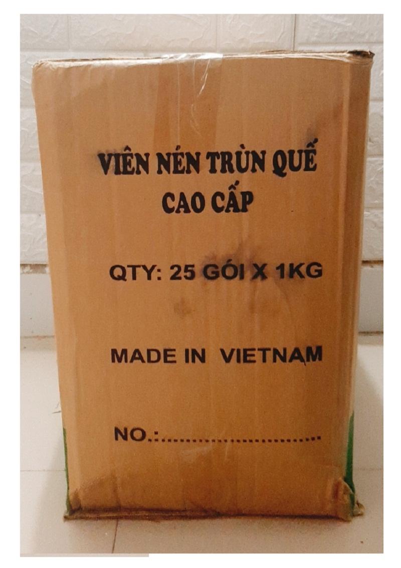 2 Túi Viên Nén Phân Trùn Quế Cao Cấp Hoa Lan - Cây Cảnh, 100% Nguyên Chất, 100% Không Chứa Vi Sinh Vật Gây Hại, Khối Lượng: 1kg/Túi