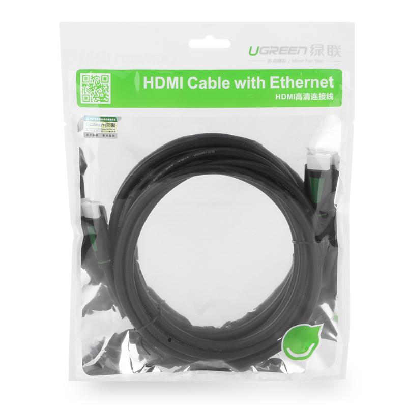 Dây HDMI 1.4 thuần đồng 19+1 dài 5M UGREEN HD101 10167 - Hàng Chính Hãng