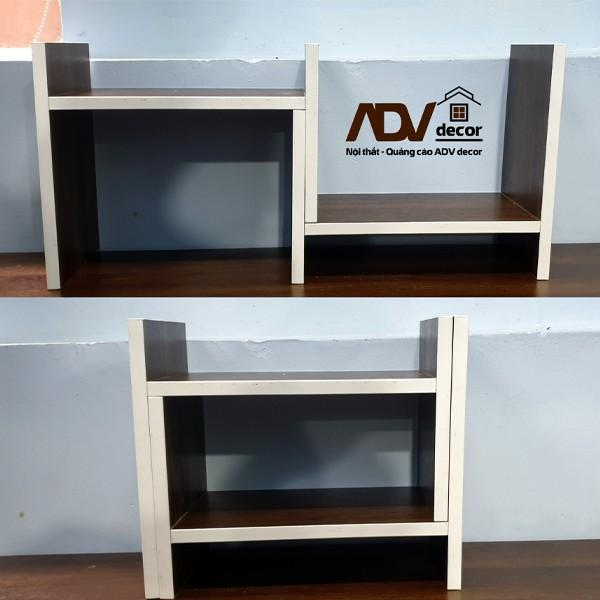 Kệ gỗ để bàn làm việc, kệ sách lắp ghép đa năng ADV 011