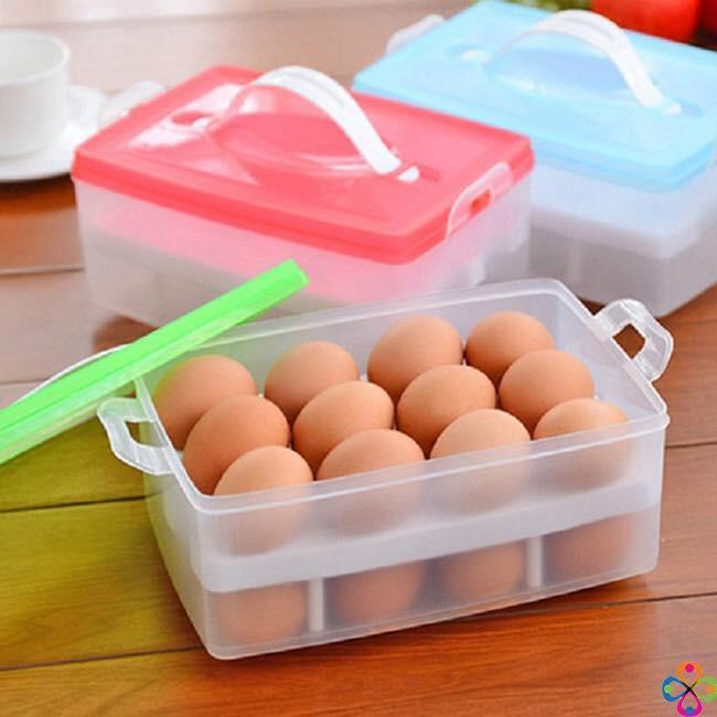 Hộp đựng trứng 2 tầng để tủ lạnh Cao Cấp
