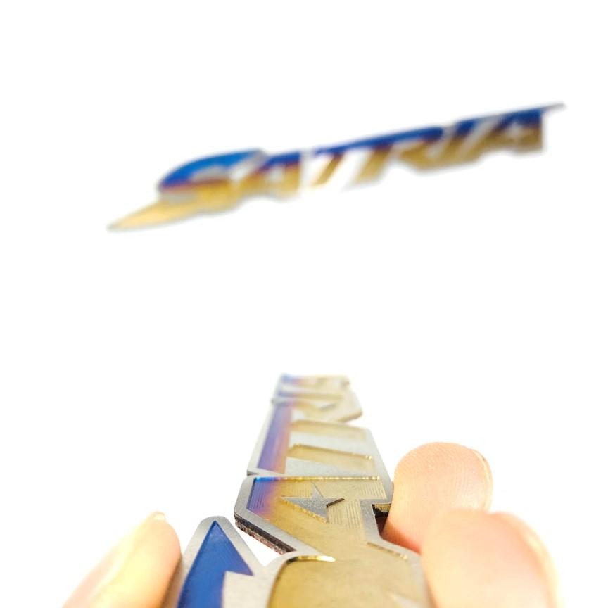 Tem chữ nổi titan dành cho dòng xe Satria