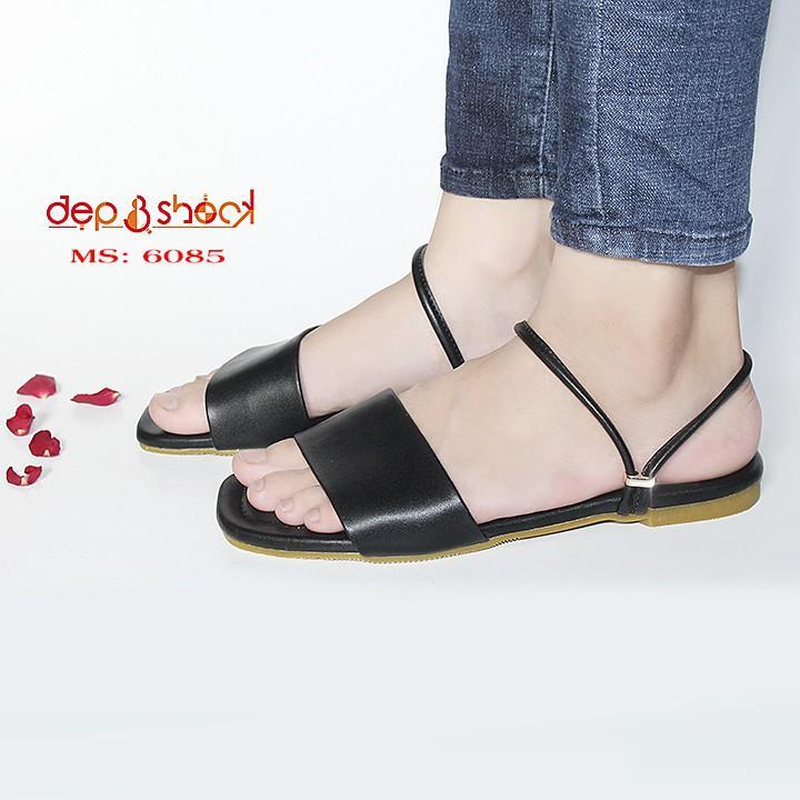 Sandal nữ quai ngang big size 2 trong 1 làm dép hoặc sandal tùy ý MS 6085