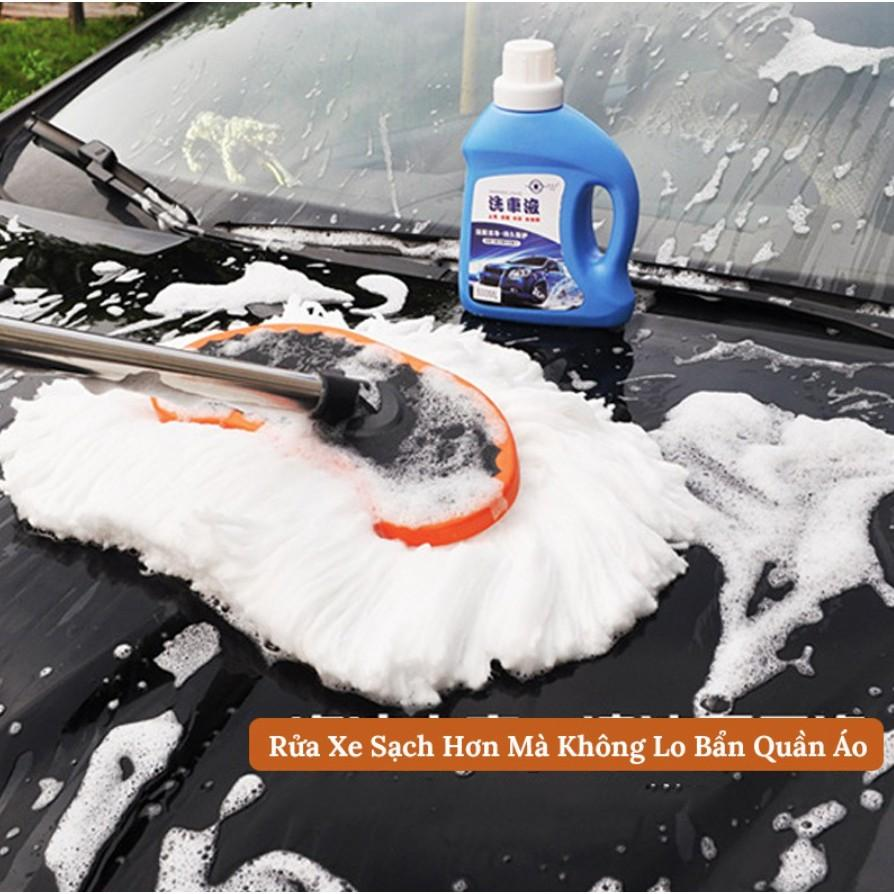 Chổi lau ô tô - Rửa xe ô tô lụa mềm cao cấp đa chức năng - điểu chỉnh được độ dài siêu thấm hút độ bền cao