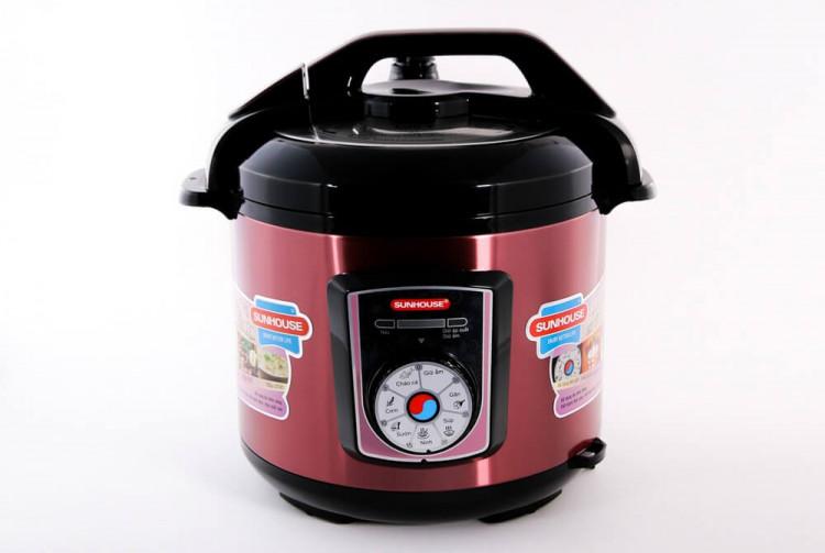 Nồi áp suất điện đa năng SUNHOUSE SHD1755 đỏ 006