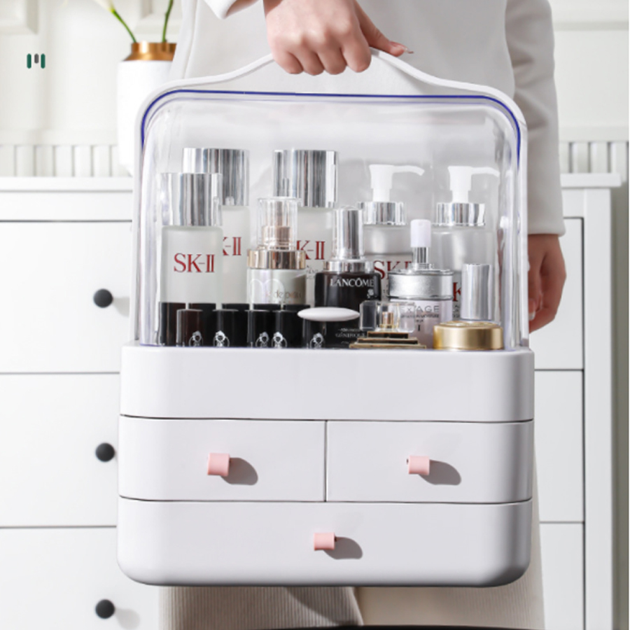 Tủ đựng mỹ phẩm thiết kế ngăn kéo/ có nắp đậy mỹ phẩm cao cấp bền đẹp M