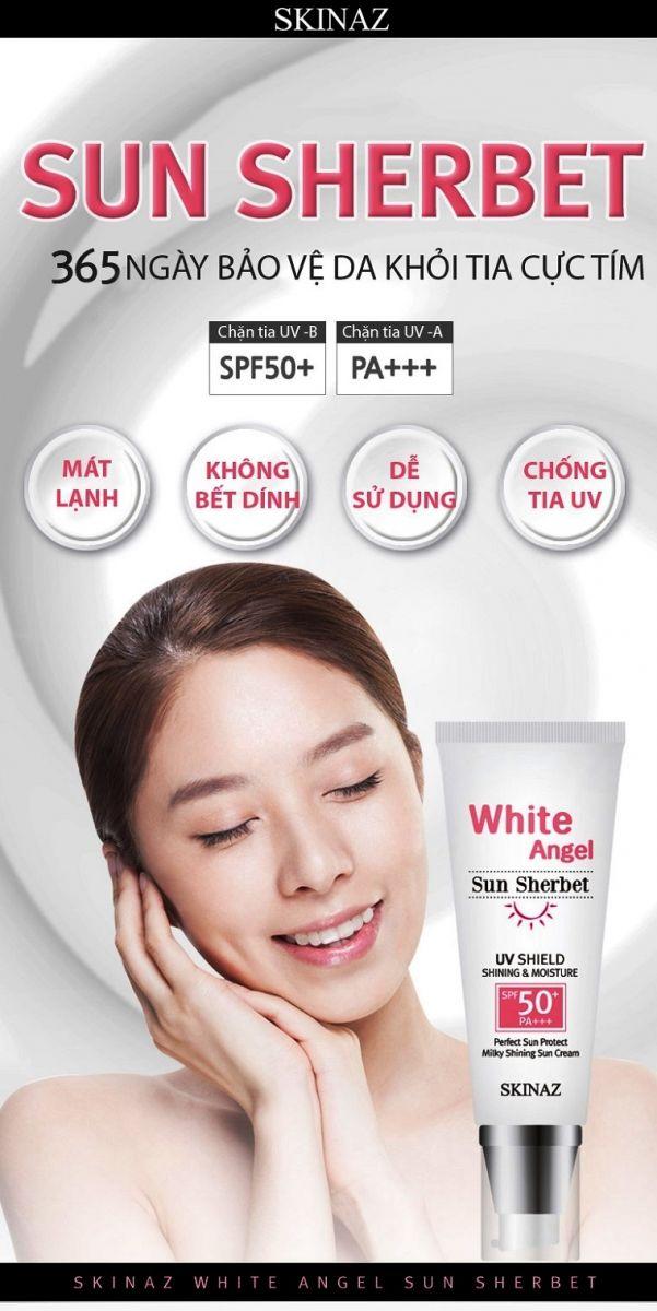 Kem Chống Nắng Skinaz Hàn Quốc (White Angel Sun Sherbet) SPF 50 +