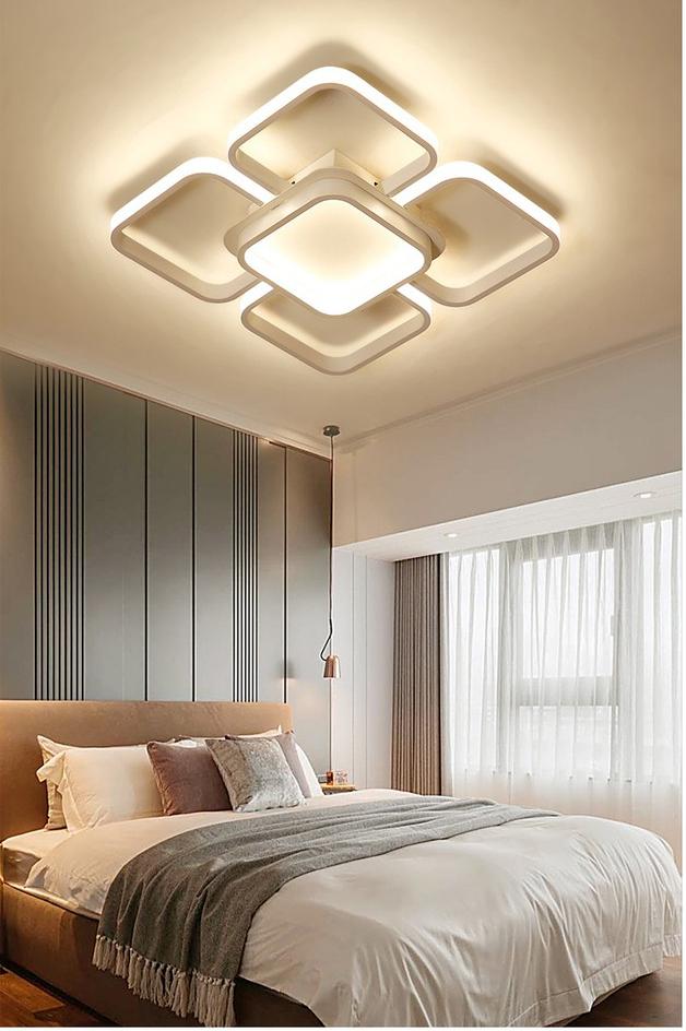 Đèn trần LED - đèn ốp trần - đèn trần trang trí 5 cánh vuông hiện đại SM285