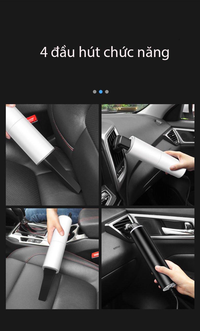 Máy hút bụi dùng cho oto ô tô dùng tẩu 12V tuy nhỏ nhưng khỏe D606