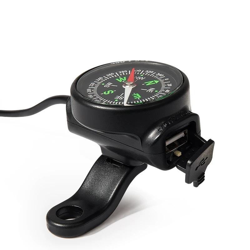 Phụ kiện sạc điện thoại xe máy chống nước tích hợp la bàn MOTOWOLF - Hàng Nhập Khẩu