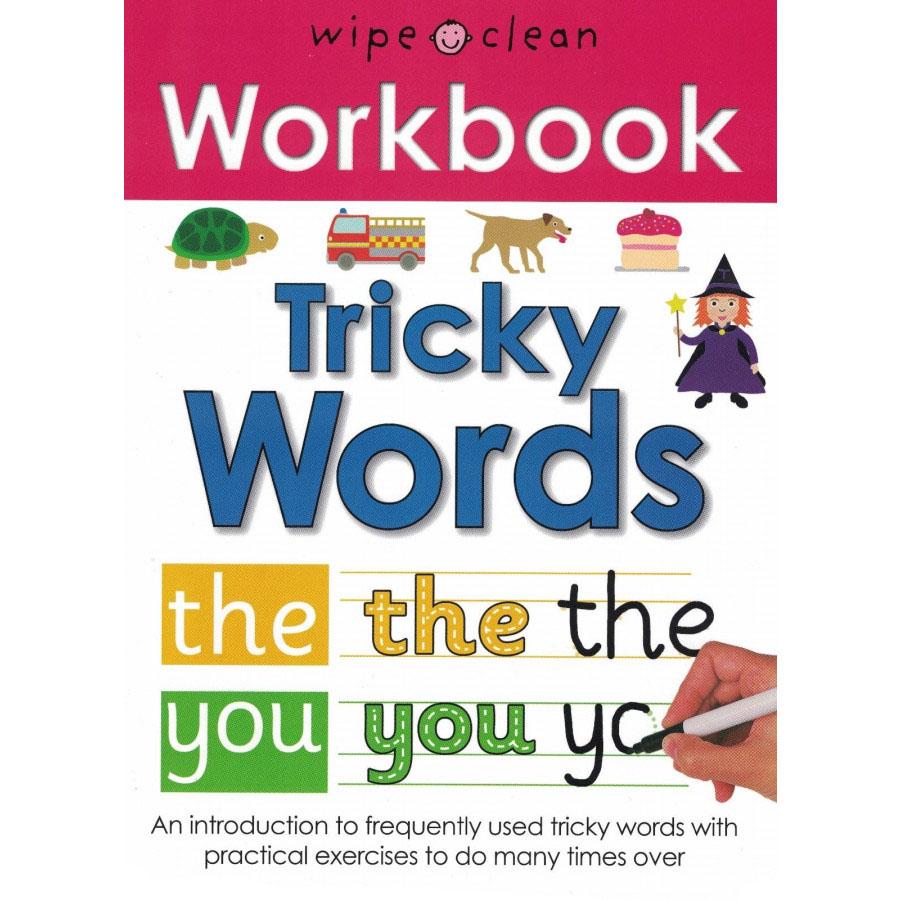 Sách tẩy xóa tiếng Anh - Wipe Clean Workbook Tricky Words