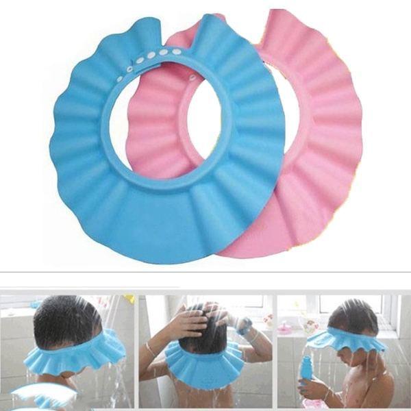 Bộ 2 mũ chắn nước tắm, cắt tóc, che nắng cho bé (giao màu ngẫu nhiên) - Hàng nội địa Nhật