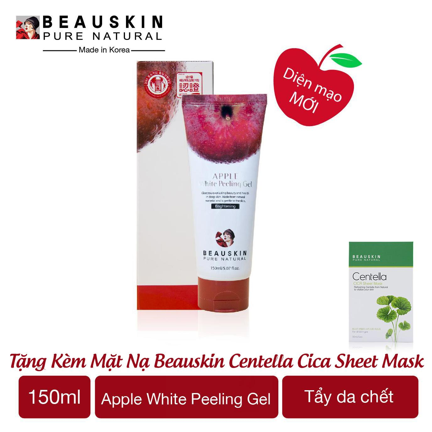 Tẩy da chết làm sạch sâu và ngừa mụn Beauskin Apple White Peeling Gel - Hàn Quốc Chính Hãng