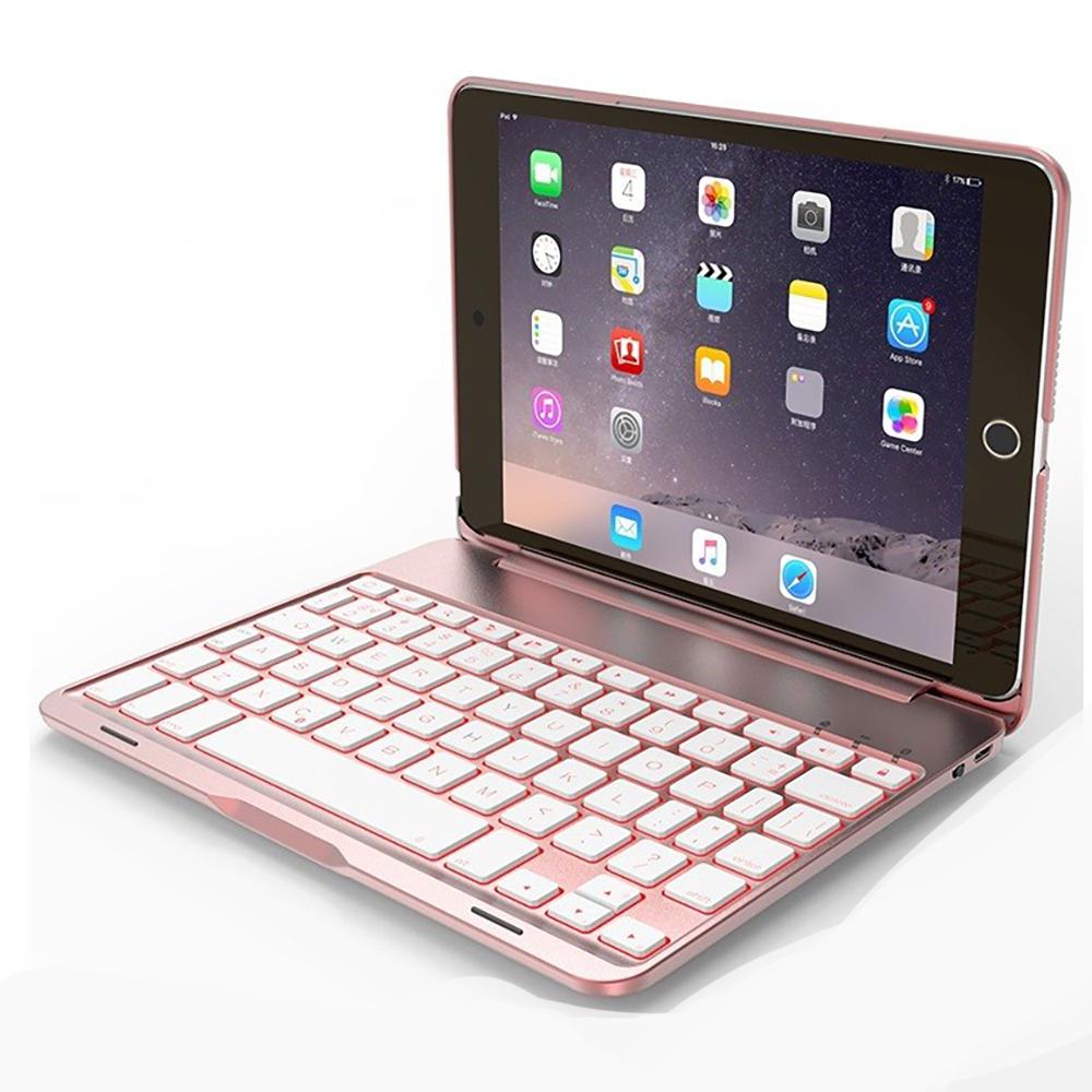 Bàn phím Bluetooth F8S cho iPad Mini 4 - 7 màu đèn cho bàn phím