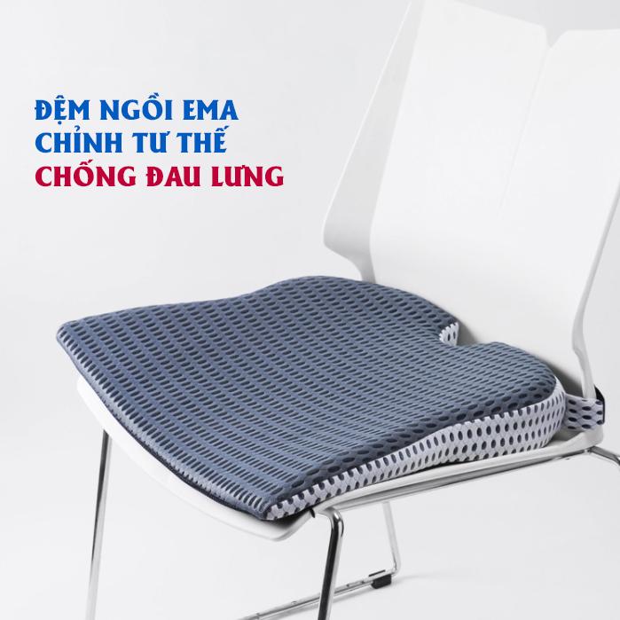 Đệm ngồi chống đau lưng, gù lưng, đau xương cụt Ema cho dân văn phòng, lái xe, học sinh, phụ nữ sau sinh