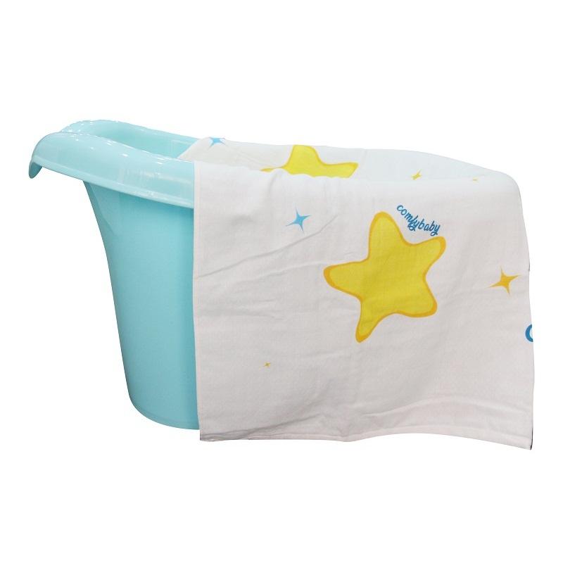 Khăn tắm trẻ em siêu mềm Comfybaby màu vàng 75x150cm