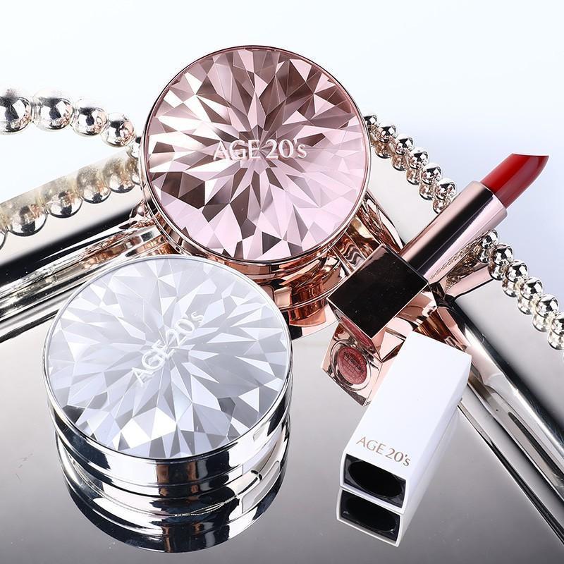 Phấn Nền Lạnh Kim Cương AGE20's Essence Cover Pact DIAMOND White SPF 50+/PA  +++ 12.5g - Phấn nền, kem nền Hãng AGE 20's | MyPhamTONA.com