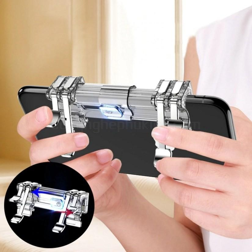 Bộ 2 Nút Bấm Chơi Game PUBG Dòng C9 nút inox Hỗ Trợ Chơi Pubg Mobile, Ipad - Thế hệ f4 -dc3033