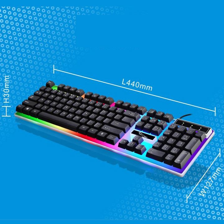 Bàn phím G21 LED giả cơ game chuyên dụng + LÓT CHUỘT