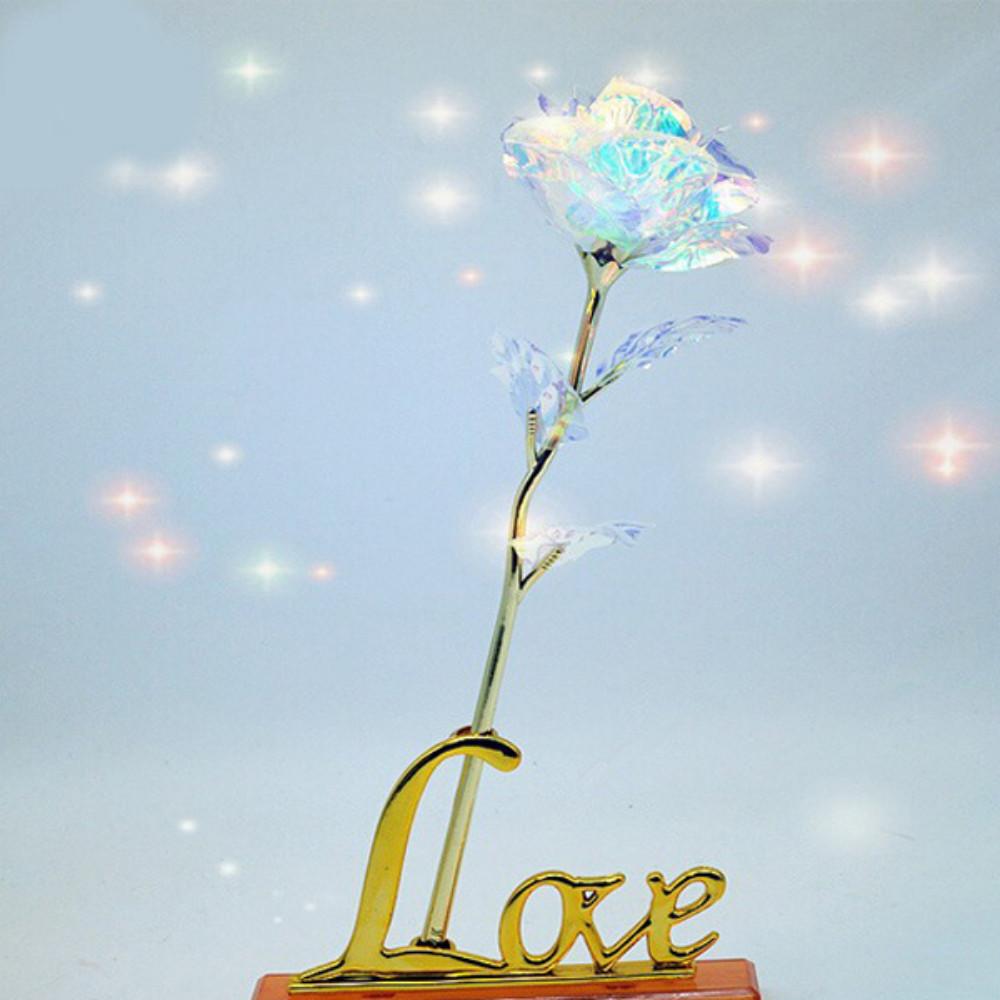 Quà Valentine 2021, Quà 8/3, Quà Sinh Nhật Ý Nghĩa Tặng Bạn Gái - Hoa Hồng Galaxy Phát Sáng Có Đèn Led Đế Chữ Love Golden Rose (Phiên Bản Đặc Biệt)