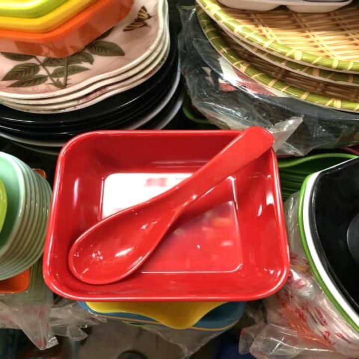Thìa nhựa phíp ăn chè, hoa quả dầm cực xịn - Nhiều màu