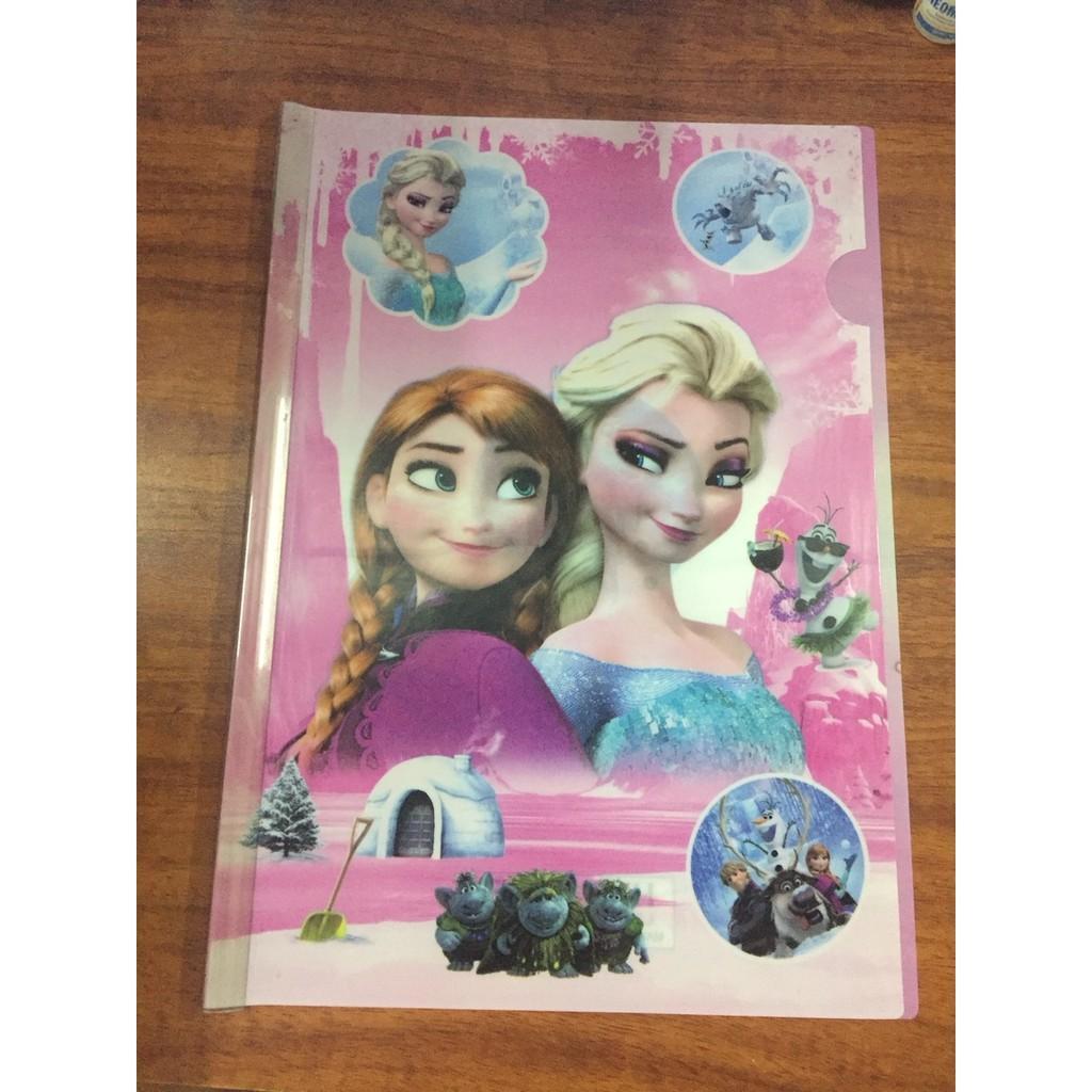 Kẹp tài liệu, file rút gáy công chúa Elsa