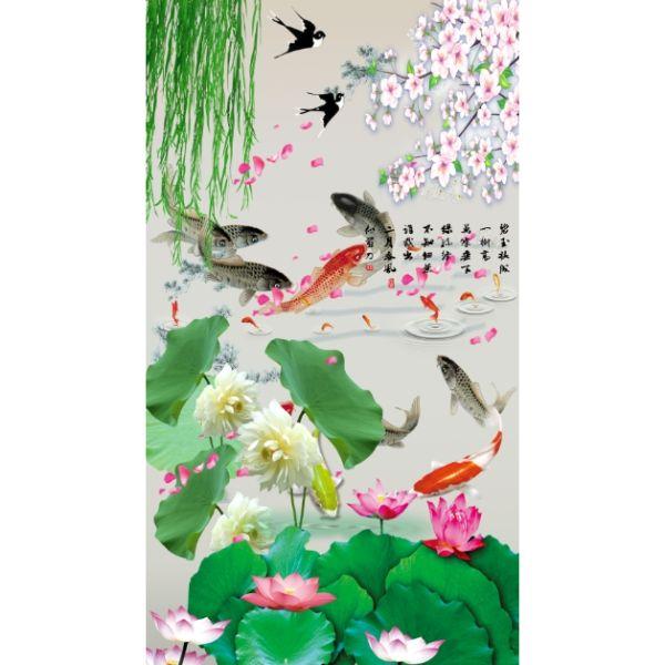 Giấy dán tường - Cá Koi - Mã 13