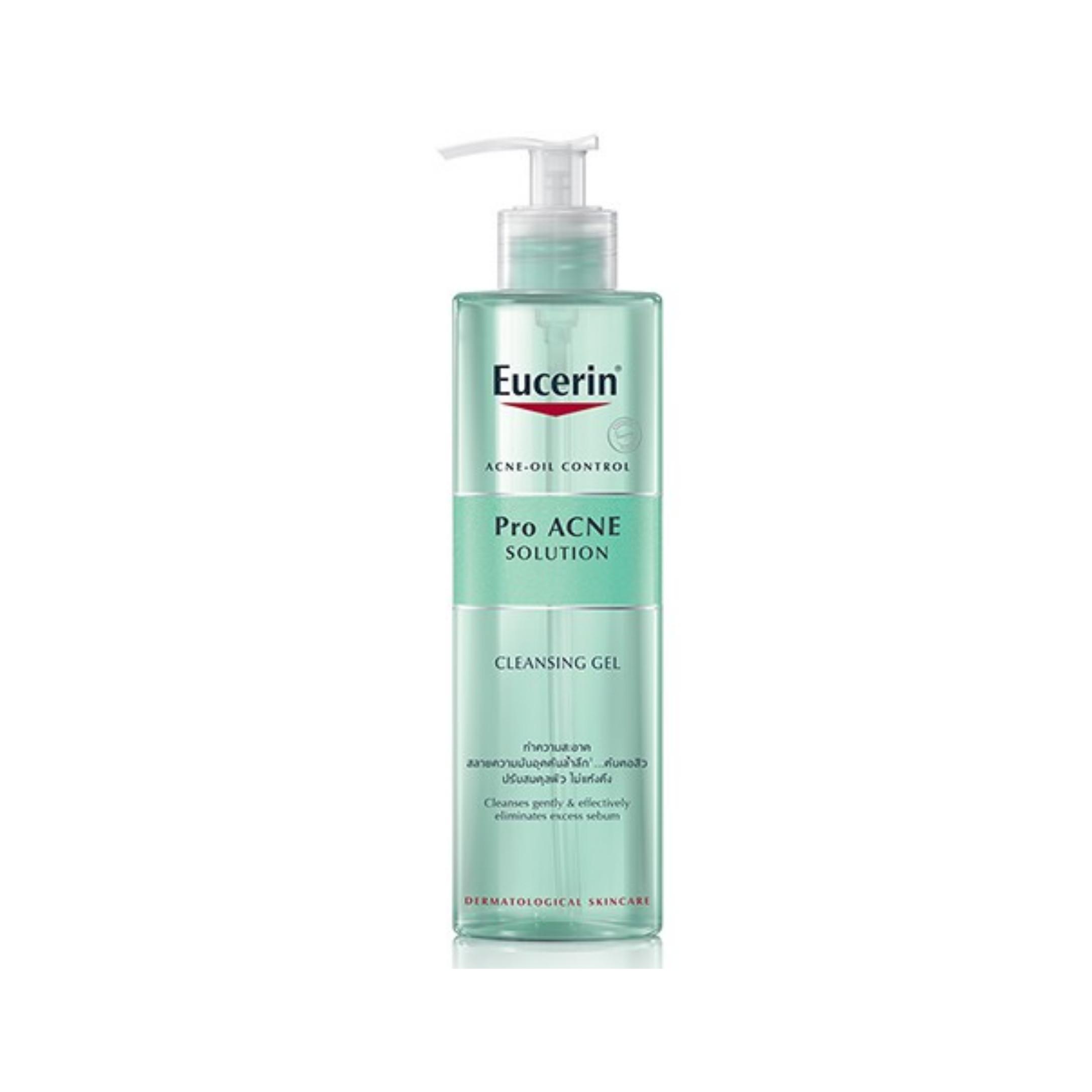 Gel rửa mặt giảm mụn loại bỏ nhờn Eucerin Pro Acne Solution Cleansing Gel (Nhập khẩu)