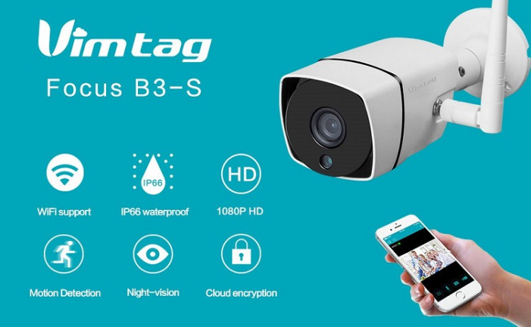 Camera ip wifi vimtag B3-S