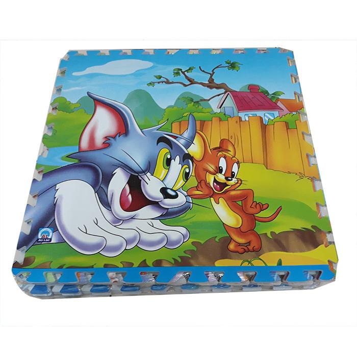 Combo 4 tấm tranh thảm xốp, in hình mèo  Tom và Jerry, kích thước 1 tấm 60cm x 60cm x1cm