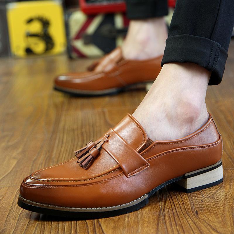 Giày Da Nam kiểu dáng giày lười - da thật 100% - giày da thật nam trẻ trung 8165