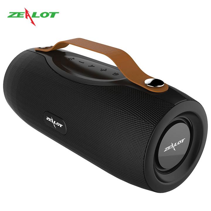 Loa bluetooth Zealot không dây di dộng ngoài trời hàng chính hãng âm siêu trầm nghe nhạc cực hay, tích hợp đèn pin siêu sáng
