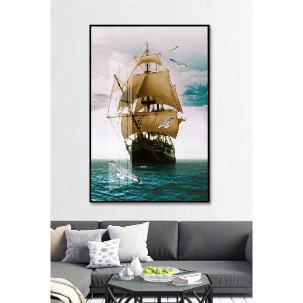 Tranh Trang Trí Chim Hải Âu và Thuyền