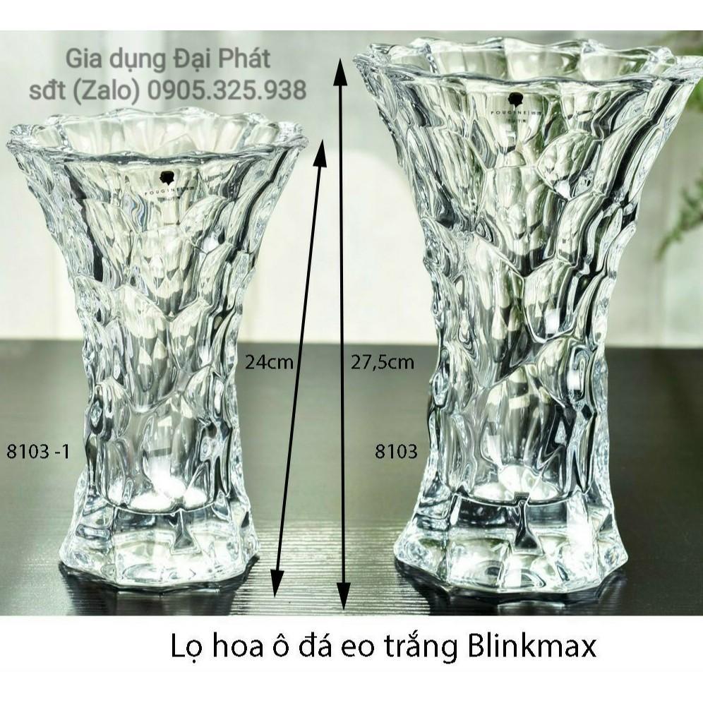 BÌNH CẮM BÔNG THỦY TINH - LỌ HOA Ô ĐÁ EO BLINKMAX