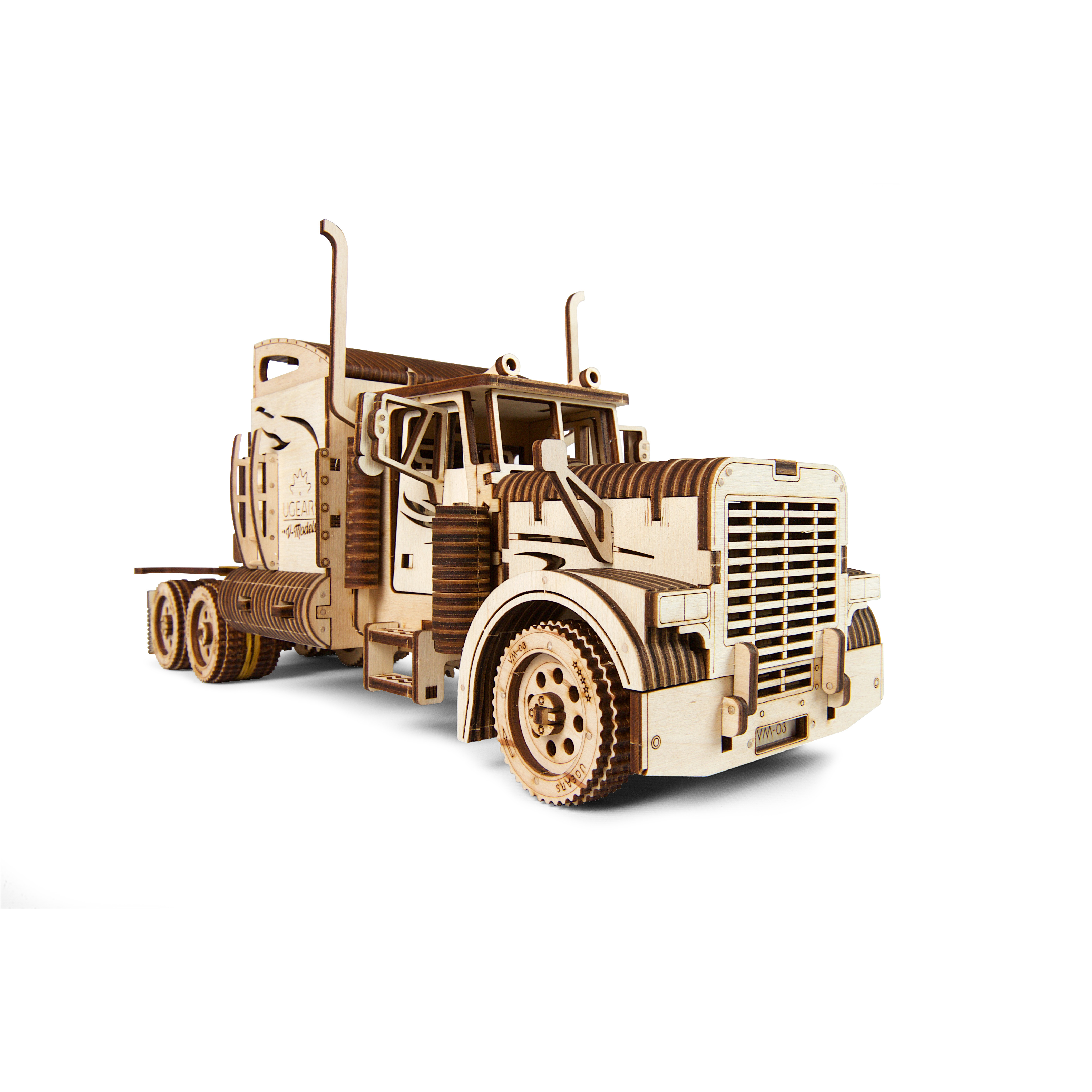 Mô hình Gỗ cơ khí, Ugears Heavy Boy Truck - Xe tải đầu kéo hạng nặng, sản phẩm chính hãng Ugears, nhập khẩu nguyên bộ EU, mô hình lắp ráp 3D, DYI