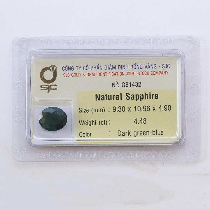 Viên đá sapphire xanh lá thiên nhiên - Diệp Linh