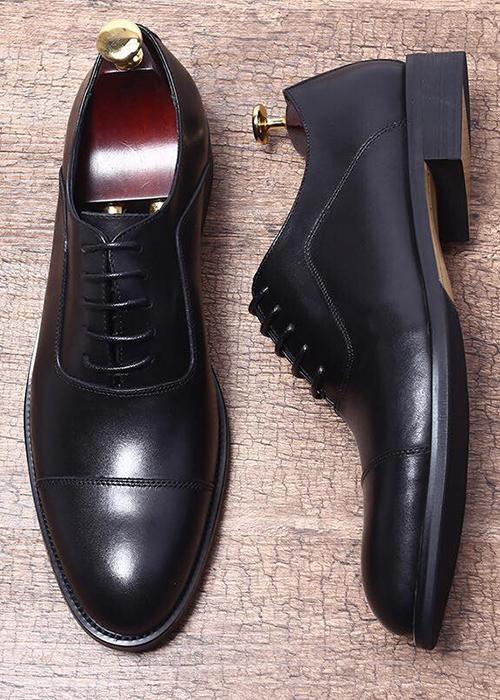 Giày tây đenđơn giản dáng Oxford Y299-1Đ