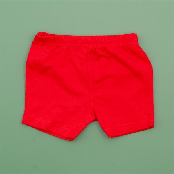 Quần đùi màu đỏ trơn cho bé